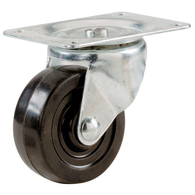 Select Swivel Castors Rubber Wheel - 51mm